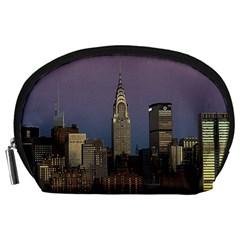 Skyline City Manhattan New York Accessory Pouches (large)