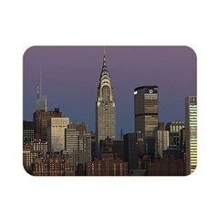 Skyline City Manhattan New York Double Sided Flano Blanket (mini)