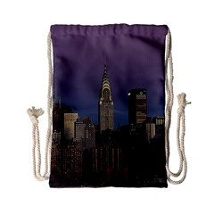 Skyline City Manhattan New York Drawstring Bag (small)