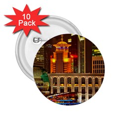 Shanghai Skyline Architecture 2 25  Buttons (10 Pack)