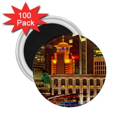 Shanghai Skyline Architecture 2 25  Magnets (100 Pack)