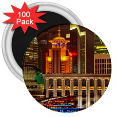 Shanghai Skyline Architecture 3  Magnets (100 Pack)