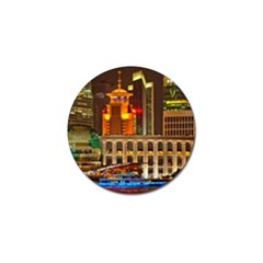 Shanghai Skyline Architecture Golf Ball Marker