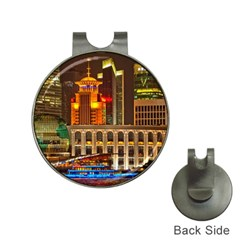 Shanghai Skyline Architecture Hat Clips With Golf Markers