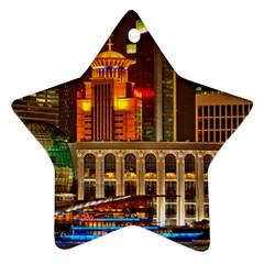 Shanghai Skyline Architecture Star Ornament (two Sides)