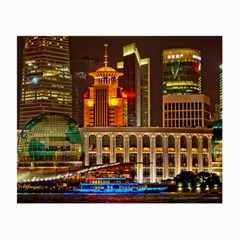 Shanghai Skyline Architecture Small Glasses Cloth (2 Side)