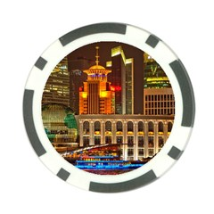 Shanghai Skyline Architecture Poker Chip Card Guard (10 Pack)