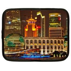 Shanghai Skyline Architecture Netbook Case (xxl)