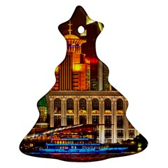 Shanghai Skyline Architecture Christmas Tree Ornament (two Sides)