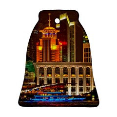 Shanghai Skyline Architecture Bell Ornament (two Sides)