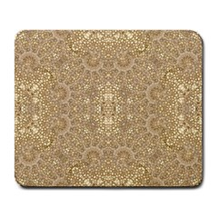 Ornate Golden Baroque Design Large Mousepads