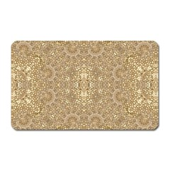 Ornate Golden Baroque Design Magnet (rectangular)