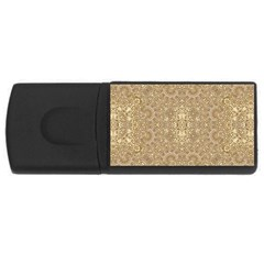 Ornate Golden Baroque Design Rectangular Usb Flash Drive