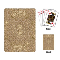 Ornate Golden Baroque Design Playing Card