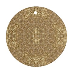 Ornate Golden Baroque Design Round Ornament (two Sides)