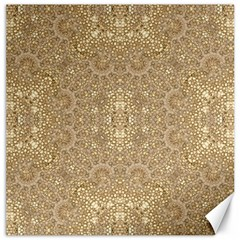 Ornate Golden Baroque Design Canvas 20  X 20