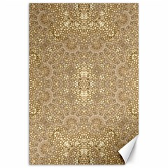 Ornate Golden Baroque Design Canvas 20  X 30