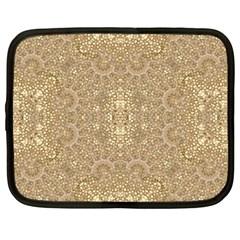 Ornate Golden Baroque Design Netbook Case (large)