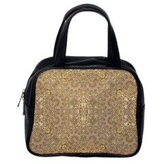 Ornate Golden Baroque Design Classic Handbags (one Side)