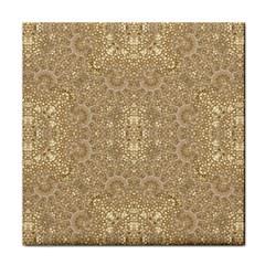 Ornate Golden Baroque Design Face Towel