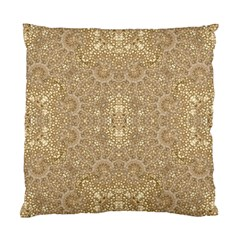 Ornate Golden Baroque Design Standard Cushion Case (two Sides)