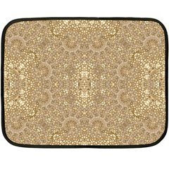 Ornate Golden Baroque Design Fleece Blanket (mini)