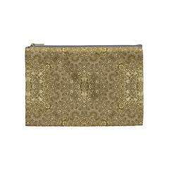Ornate Golden Baroque Design Cosmetic Bag (medium)