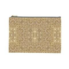 Ornate Golden Baroque Design Cosmetic Bag (large)