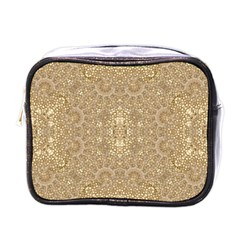 Ornate Golden Baroque Design Mini Toiletries Bags