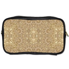 Ornate Golden Baroque Design Toiletries Bags 2 Side