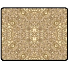 Ornate Golden Baroque Design Fleece Blanket (medium)