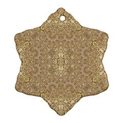 Ornate Golden Baroque Design Snowflake Ornament (two Sides)