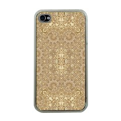 Ornate Golden Baroque Design Apple Iphone 4 Case (clear)