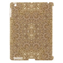 Ornate Golden Baroque Design Apple Ipad 3/4 Hardshell Case (compatible With Smart Cover)