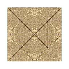 Ornate Golden Baroque Design Acrylic Tangram Puzzle (6  X 6 )