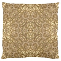 Ornate Golden Baroque Design Large Cushion Case (one Side)