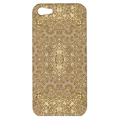 Ornate Golden Baroque Design Apple Iphone 5 Hardshell Case