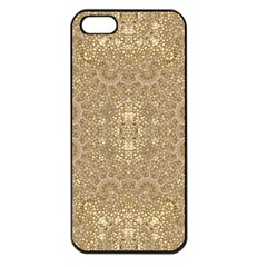 Ornate Golden Baroque Design Apple Iphone 5 Seamless Case (black)