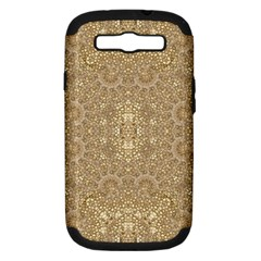 Ornate Golden Baroque Design Samsung Galaxy S Iii Hardshell Case (pc+silicone)