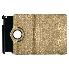 Ornate Golden Baroque Design Apple Ipad 3/4 Flip 360 Case