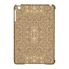 Ornate Golden Baroque Design Apple Ipad Mini Hardshell Case (compatible With Smart Cover)