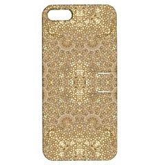 Ornate Golden Baroque Design Apple Iphone 5 Hardshell Case With Stand