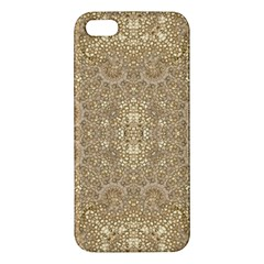 Ornate Golden Baroque Design Apple Iphone 5 Premium Hardshell Case