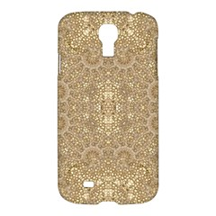 Ornate Golden Baroque Design Samsung Galaxy S4 I9500/i9505 Hardshell Case