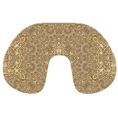 Ornate Golden Baroque Design Travel Neck Pillows