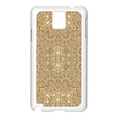 Ornate Golden Baroque Design Samsung Galaxy Note 3 N9005 Case (white)