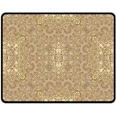 Ornate Golden Baroque Design Double Sided Fleece Blanket (medium)