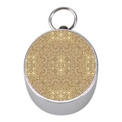 Ornate Golden Baroque Design Mini Silver Compasses
