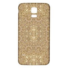 Ornate Golden Baroque Design Samsung Galaxy S5 Back Case (white)