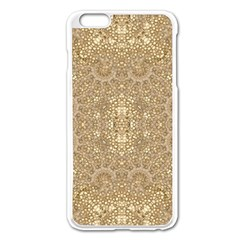 Ornate Golden Baroque Design Apple Iphone 6 Plus/6s Plus Enamel White Case